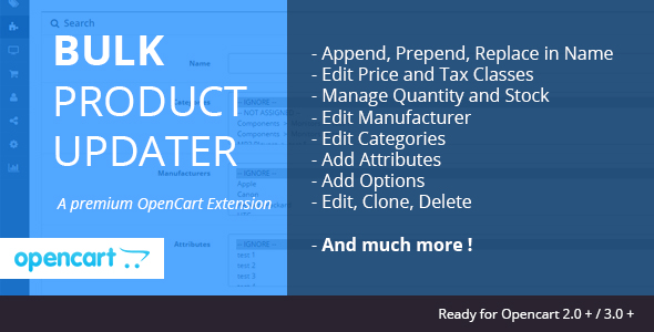 Bulk Product Updater - CodeCanyon Item for Sale