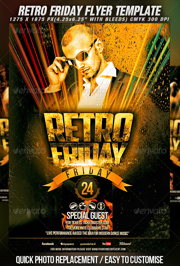 Retro Friday Flyer Template