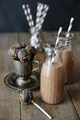 Cake pops and chocolate milk on table - PhotoDune Item for Sale