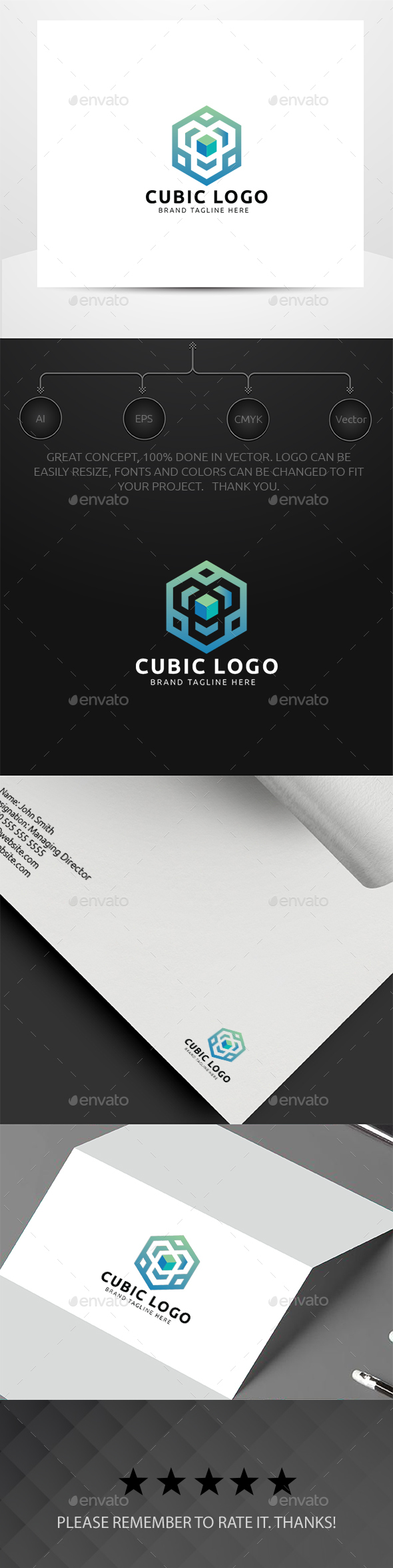 Cubic Logo - Symbols Logo Templates