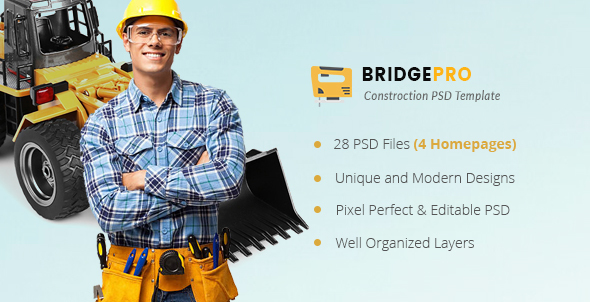 BridgePro | Construction & Building PSD Template
