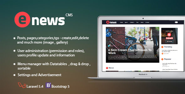 Enews Cms - CodeCanyon Item for Sale