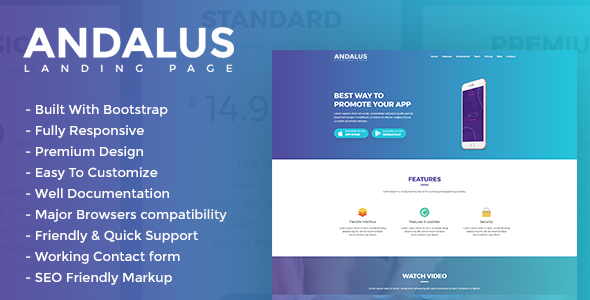 Andalus - App Landing Page