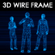 5 People N1 3D Wireframe Animation - VideoHive Item for Sale