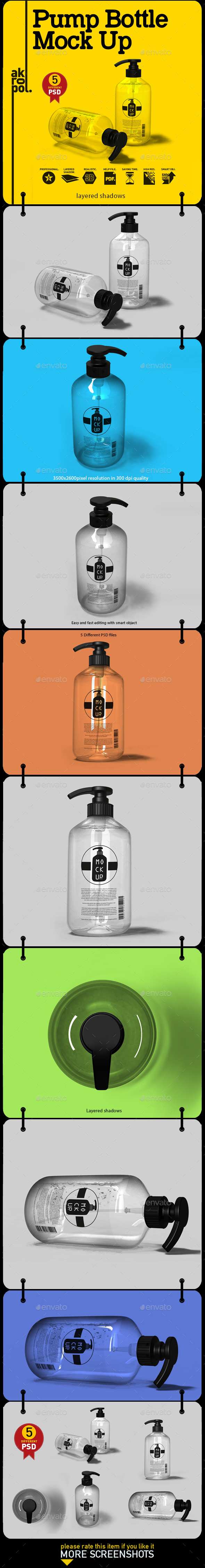 Pump Bottle Mock Up - Product Mock-Ups Graphics