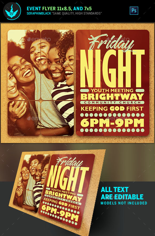 Youth Group Church Flyer Template By Seraphimblack  Graphicriver
