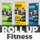 Fitness - Gym Roll-Up Template - GraphicRiver Item for Sale