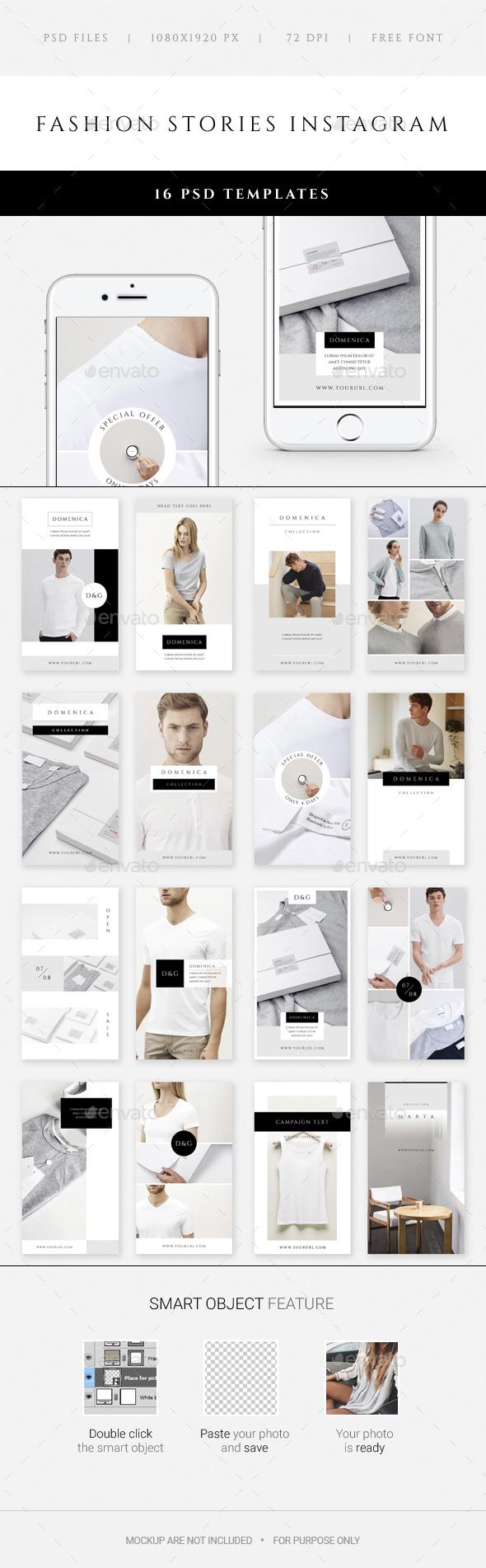 Fashion Stories Instagram - Social Media Web Elements