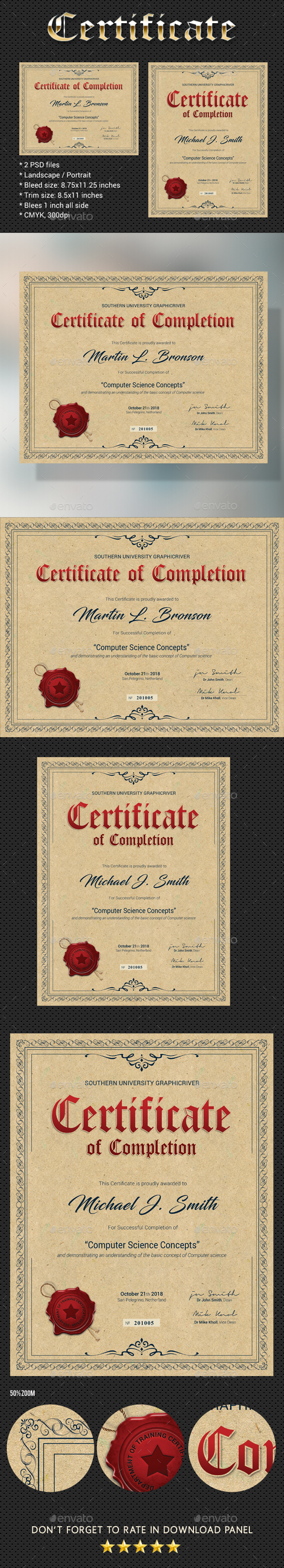 Certificate V4 - Certificates Stationery