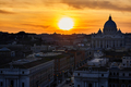 Rome Silhouette At Sunset - PhotoDune Item for Sale