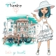 Fashion Girl in Venice, Italia. - GraphicRiver Item for Sale