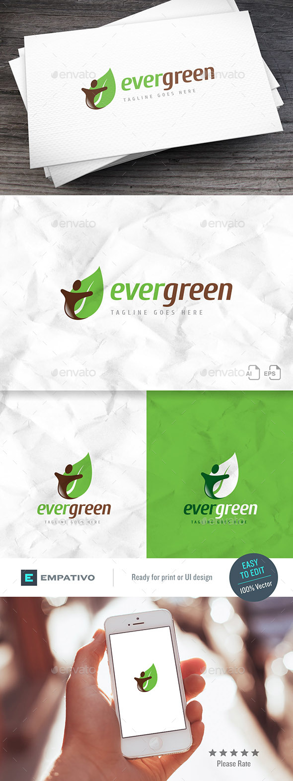 Evergreen Logo Template - Nature Logo Templates
