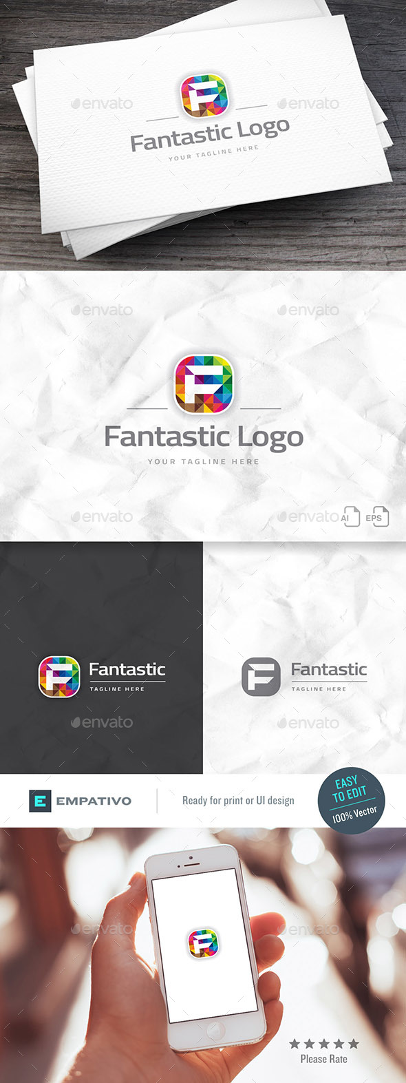 Fantastic Brand Letter F Logo Template - Letters Logo Templates