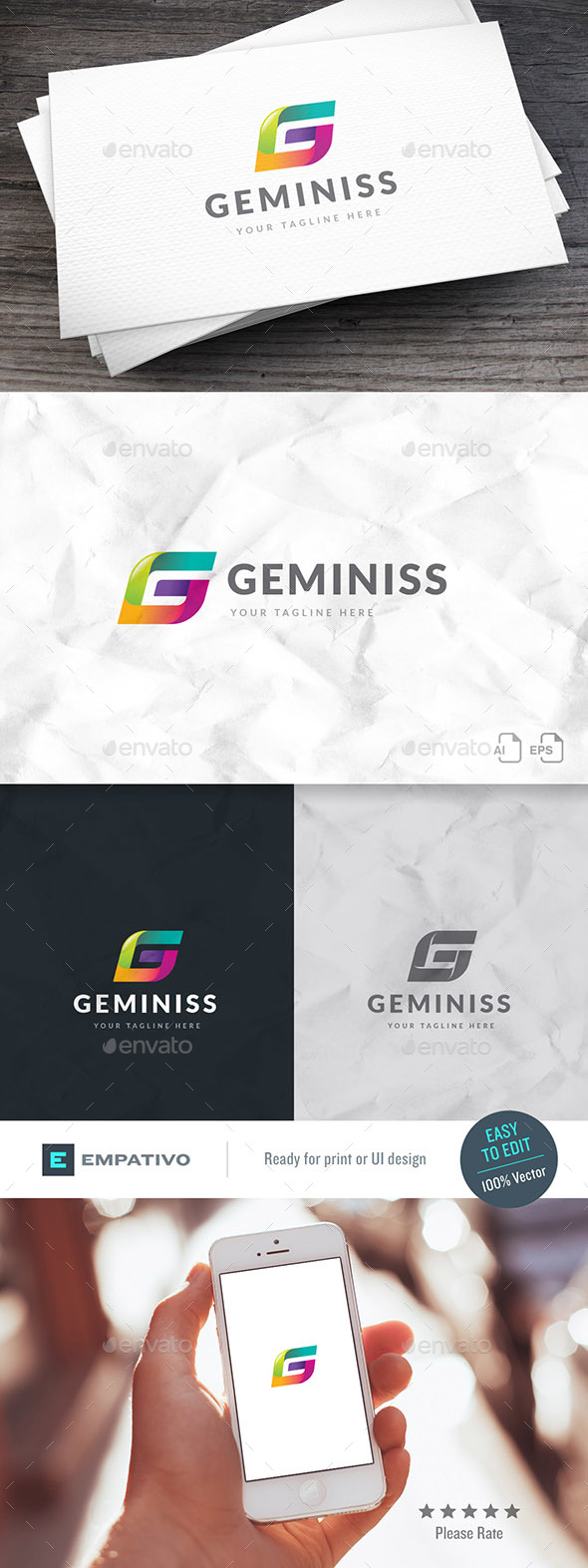 Geminiss Letter G Logo Template - Letters Logo Templates