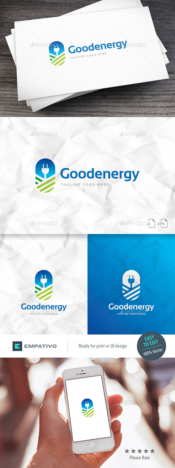 Good Energy Logo Template - Nature Logo Templates