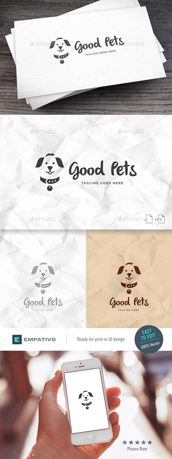 Good Pets Logo Template - Animals Logo Templates