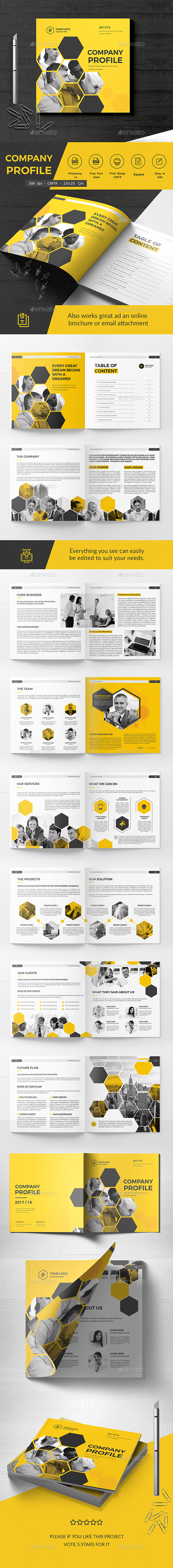 Square Company Brochure 20 Pages - Corporate Brochures