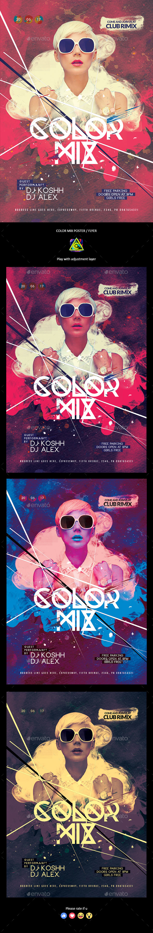 Color Mix Poster / Flyer - Clubs & Parties Events