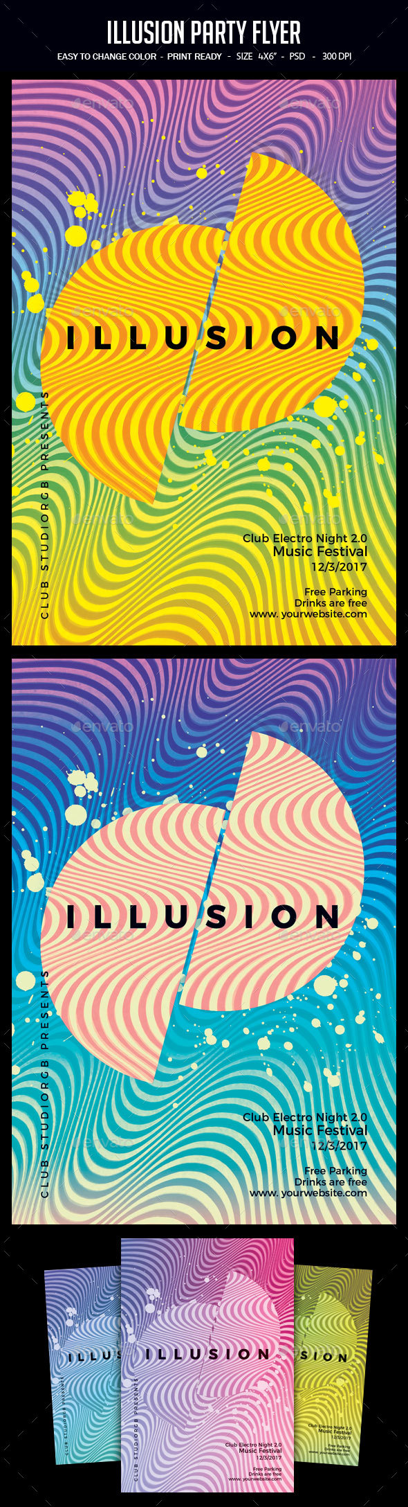 Illusion Party Flyer - Clubs & Parties Events