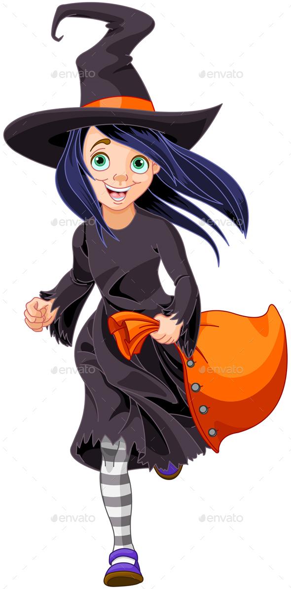 Halloween Witch - Characters Vectors