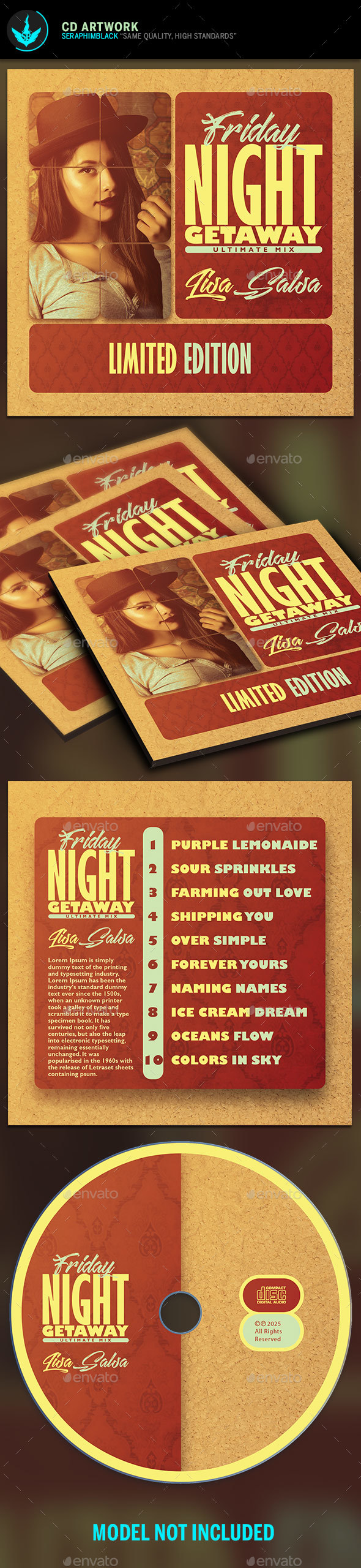GraphicRiver Vintage CD Artwork Template 20501093