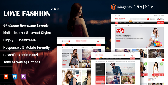 Love Fashion - Responsive Fashion Store Magento 2 and 1 Theme