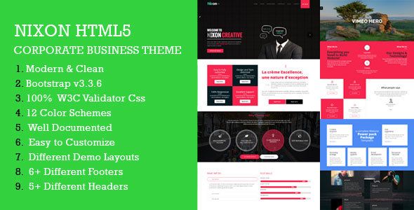 Nixon - Responsive Multi-Purpose Corporate HTML Template