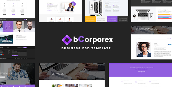 ThemeForest bCorporex business Psd Template 20389845