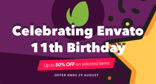 Envato Birthday 2017 [Deal is over!]