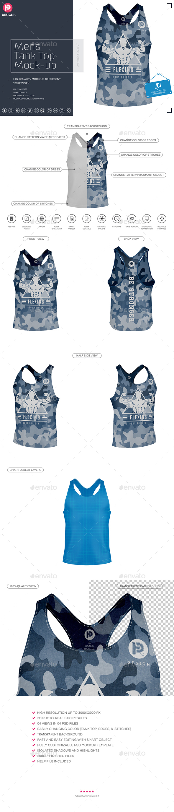 Mens Tank Top Mock-up - Miscellaneous Apparel