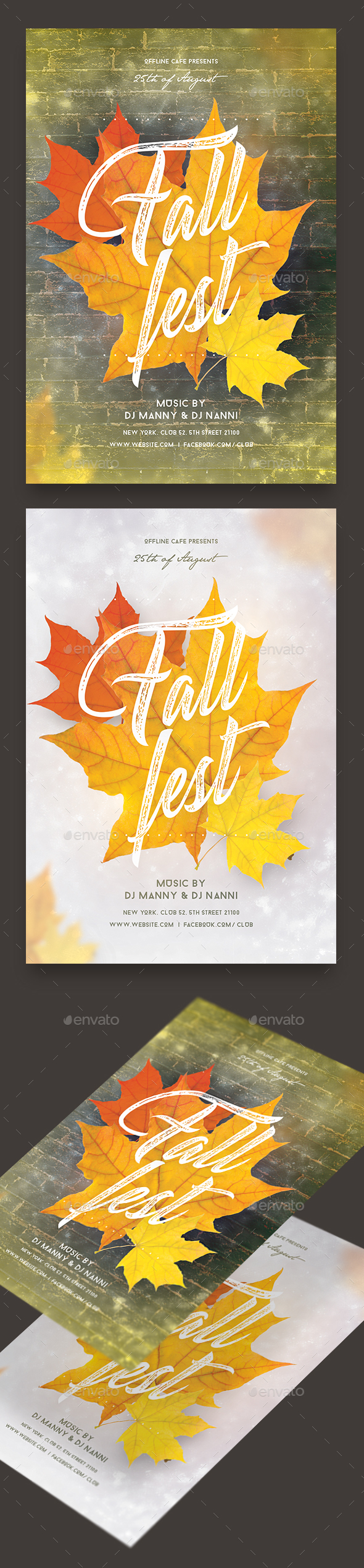 Fall Fest Party Flyer