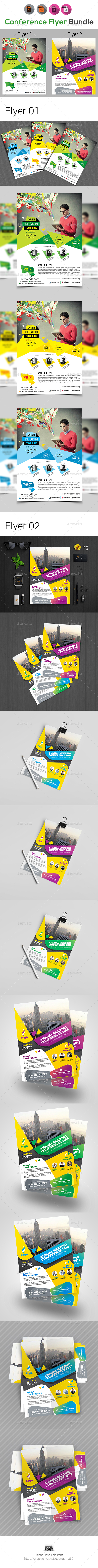 Event Summit Conference Flyer Bundle - Corporate Flyers