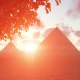 Giza Pyramids Egypt at Sunset - VideoHive Item for Sale