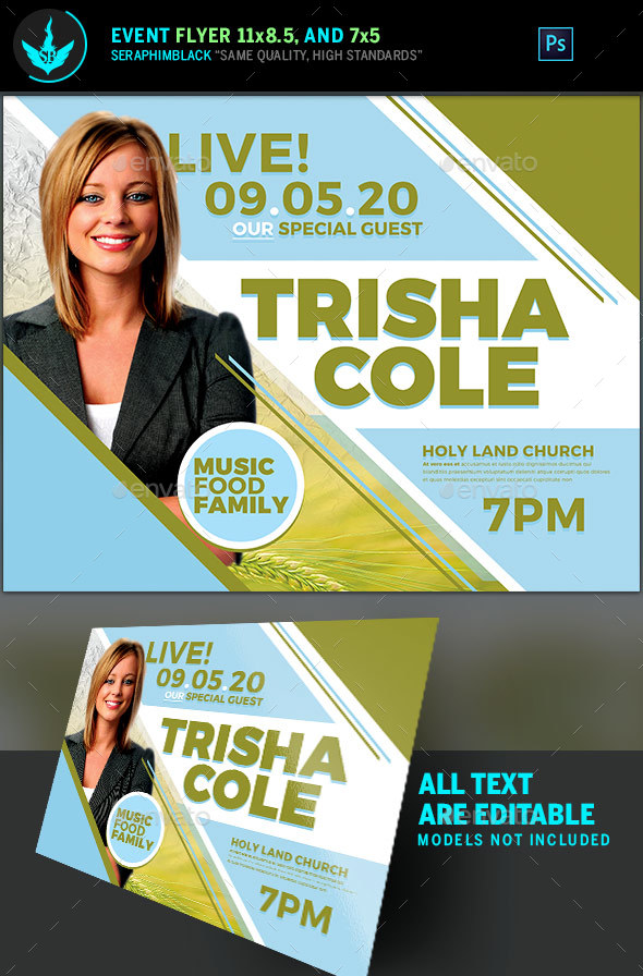 Special Guest Church Flyer Template - Church Flyers