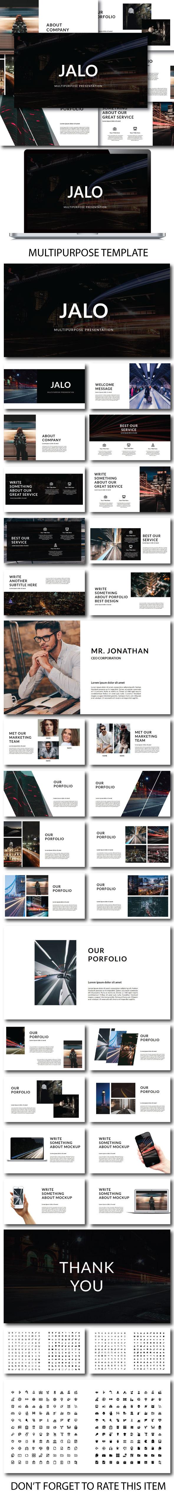 Jalo Minimal Multipurpose Powerpoint - PowerPoint Templates Presentation Templates