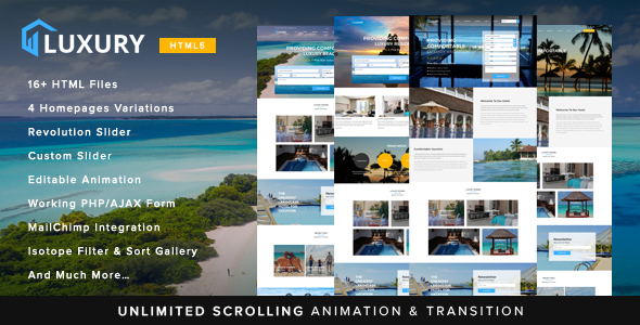 Image of Luxury Interactive Hotel Template