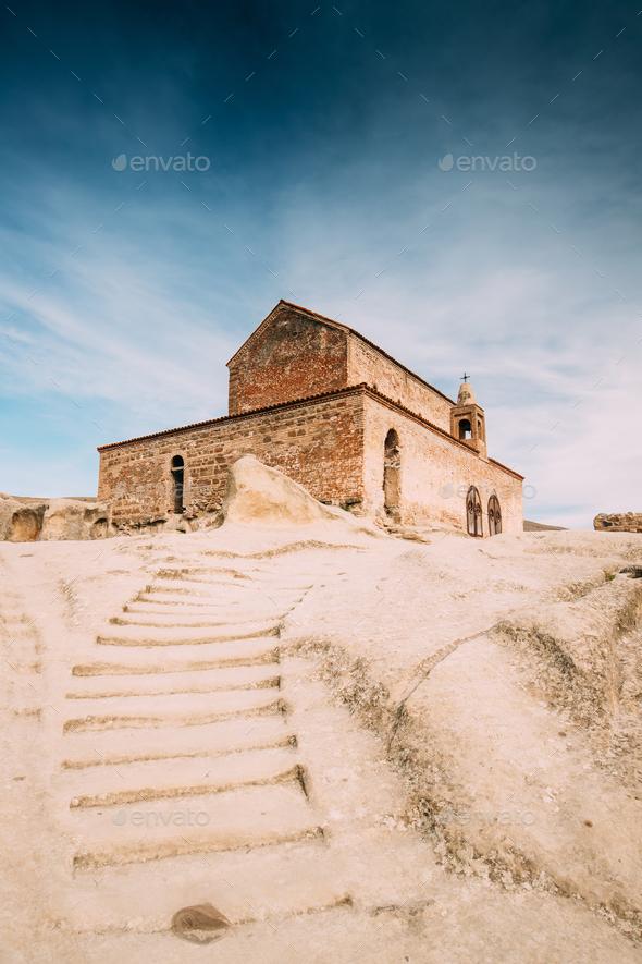 Uplistsikhe, Shida Kartli Region, Georgia. Stone Staircase To Up - Stock Photo - Images