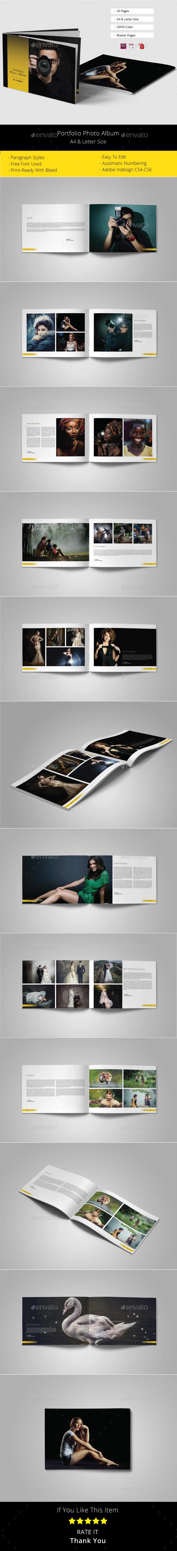 Portfolio Photo Album Template - Photo Albums Print Templates