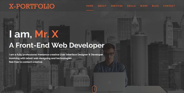 X-Portfolio HTML-5 Responsive Template - Portfolio Creative