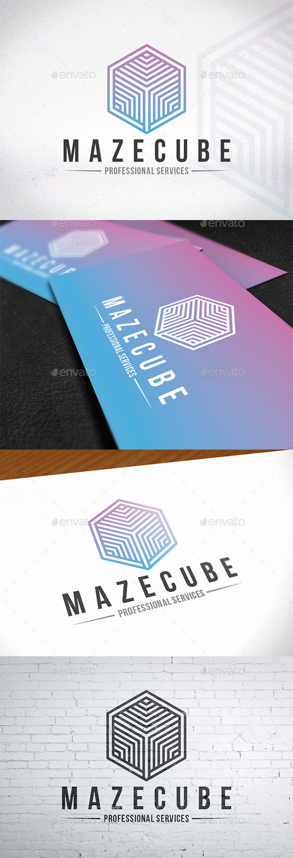 GraphicRiver Maze Cube Logo Design 20501948