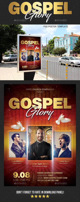 Gospel Fest Poster V2 - Signage Print Templates