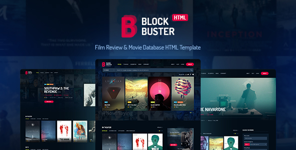 Image of BlockBuster - Film Review & Movie Database HTML Template