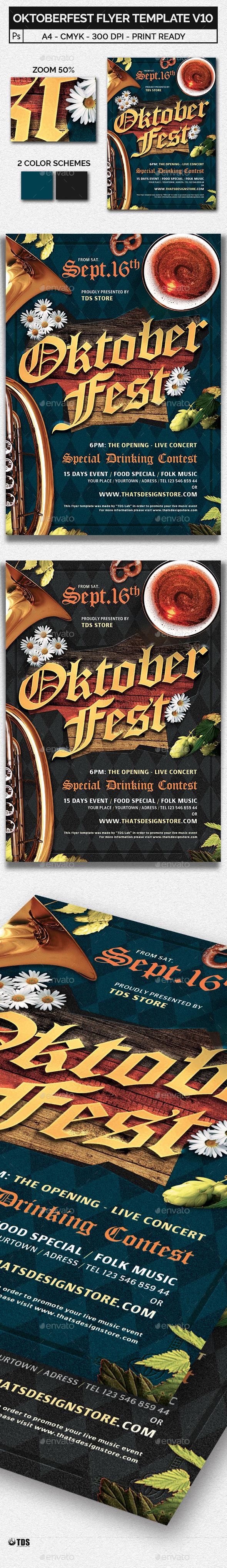 GraphicRiver Oktoberfest Flyer Template V10 20502022
