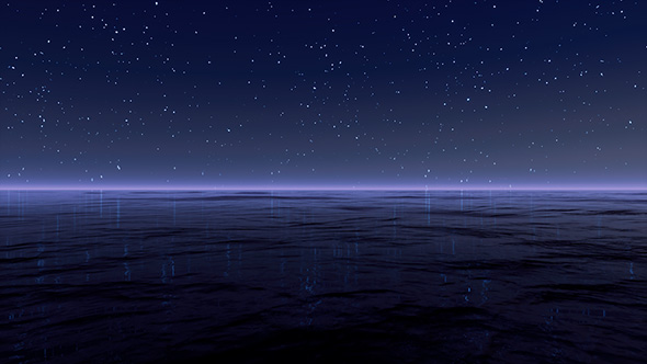 Starry Sky At Sea Background By AlienPlanet