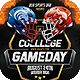 College Gameday Flyer Template - GraphicRiver Item for Sale