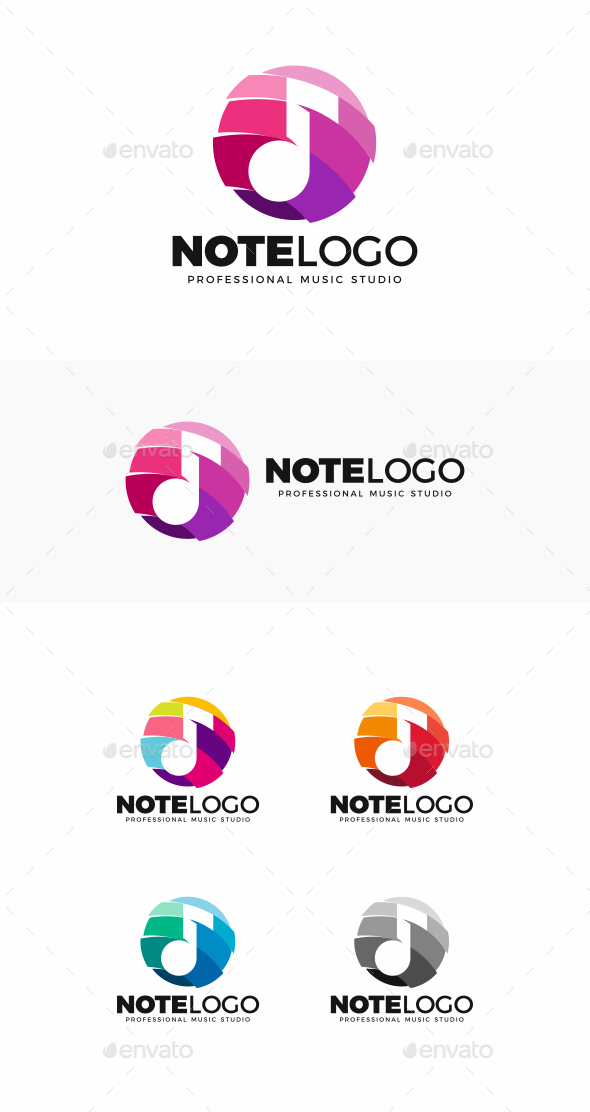 GraphicRiver Music Note Logo 20502325