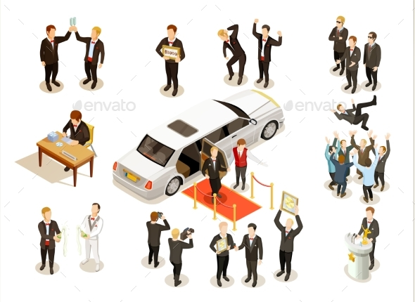 GraphicRiver Music Award Ceremony Isometric Icons Collection 20502328