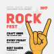 Rock Festival Poster Template - GraphicRiver Item for Sale
