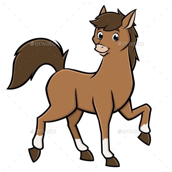 Horse Cartoon - Animals Characters