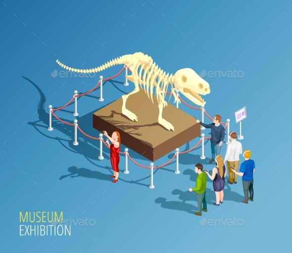 GraphicRiver Dinosaur Exhibition Background Composition 20502378